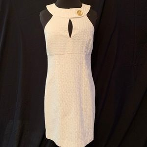 Michael Kors White Key Hole Dress